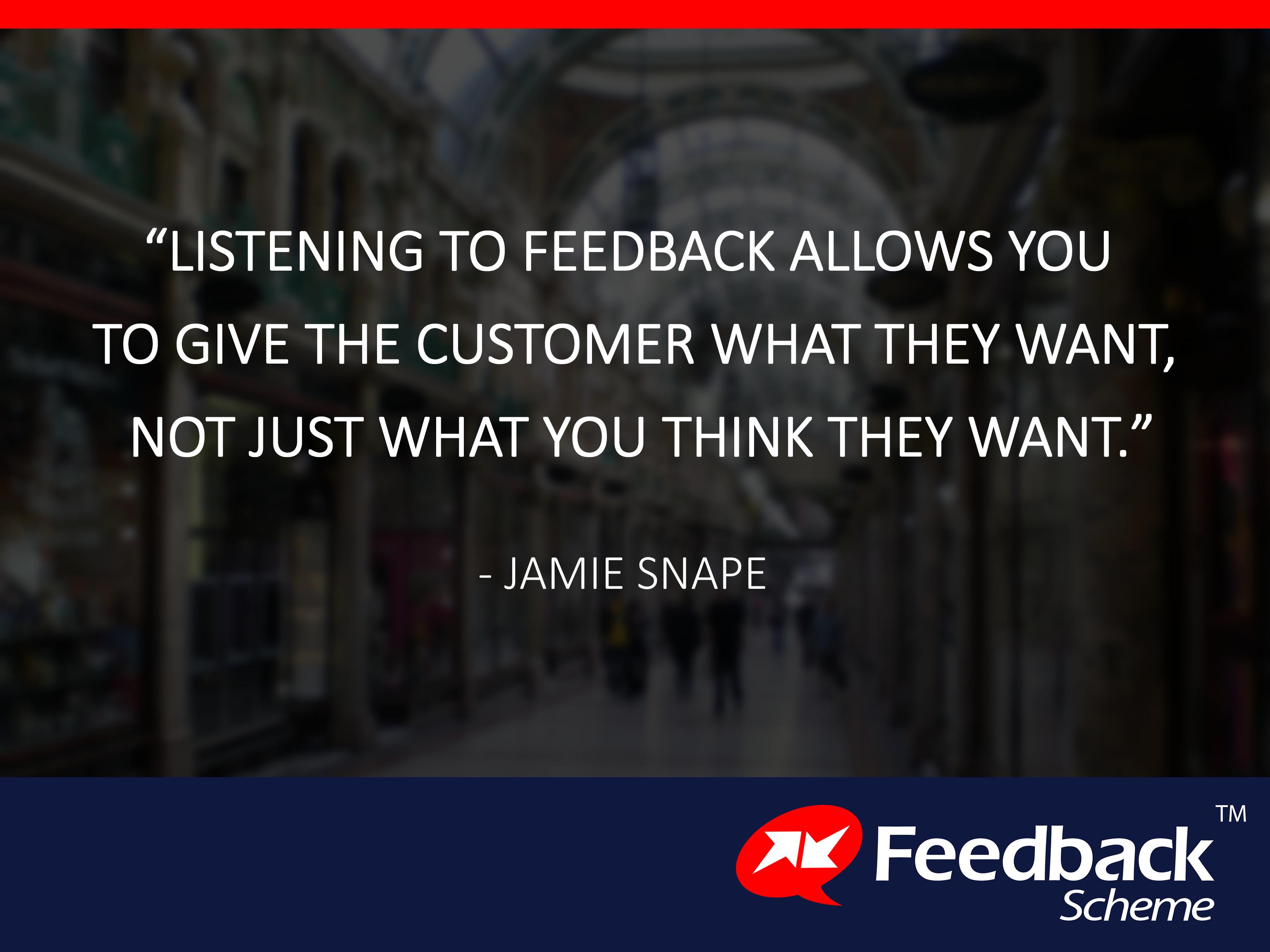 Listening to feedback