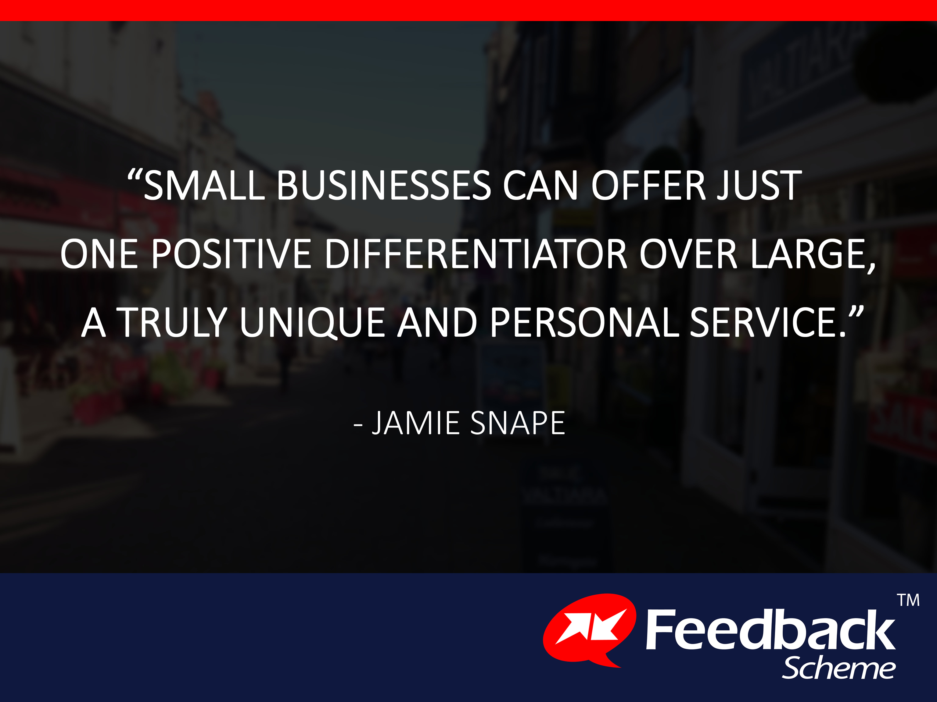 Small businesses can offer just one differentiator2