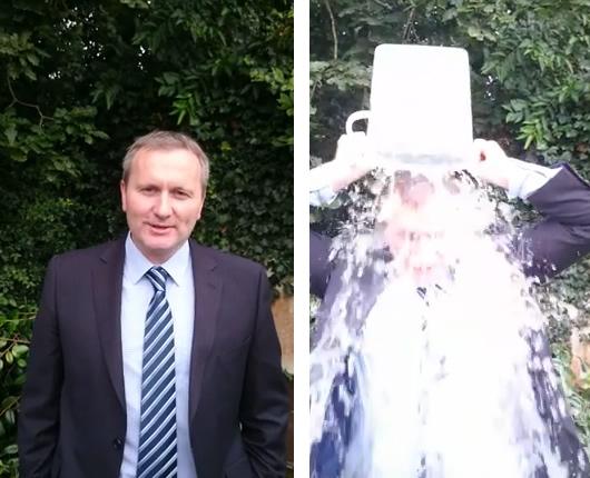 Feedback Scheme founder Jamie Snape undertakes the ALS Ice Bucket Challenge